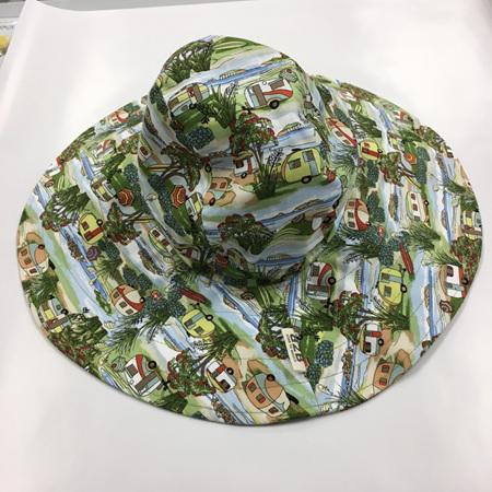 Retro Caravan Sombrero Hat - Adult size large