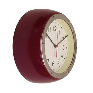 Retro Clock Dark Red