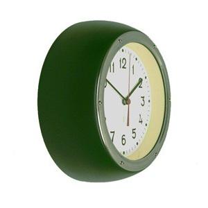 Retro Clock Forest Green