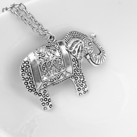 Retro Elephant Necklace