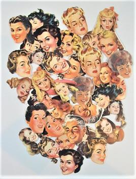 Retro Faces Stickers