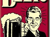 Retro Fridge Magnet - Beer