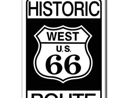 Retro Fridge Magnet - HISTORIC WEST US ROUTE 66