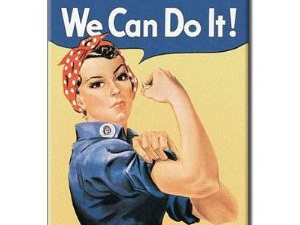 Retro Fridge Magnet - ROSIE THE RIVETOR