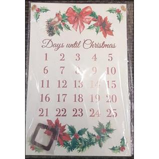 Retro look countdown until christmas metal sign