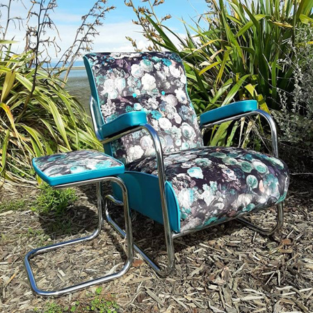Retro Lounge Arm Chair & Footstool