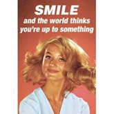 Retro Magnet - Smile and the world