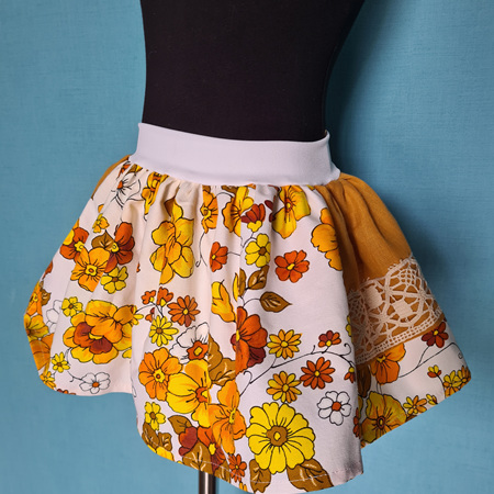Retro Mustard Skirt Size 2-3