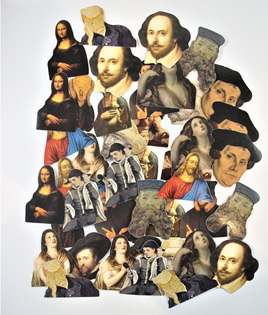 Retro Style Famous People and Characters from Art and History Stickers