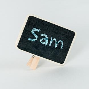 Retro-Style Mini Blackboard Clips