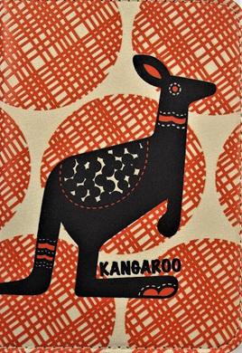 Retro-Style Passport Holder: Kangaroo