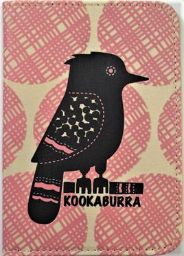 Retro-Style Passport Holder: Kookaburra