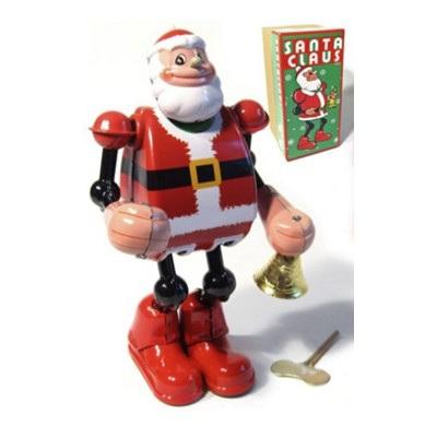 Retro Tin Santa