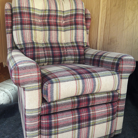Reupholster Wingback Sewing Chair
