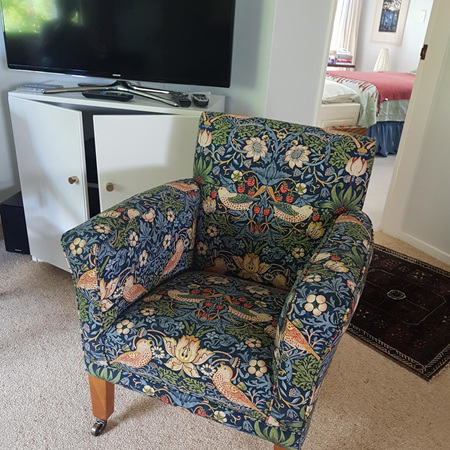 Reupholstered and Restored Lounge Chair