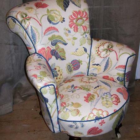 Reupholstered Nursing Chair Restoration