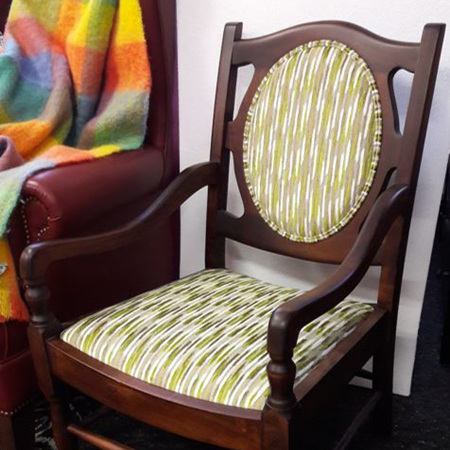 Reupholstered  & Restored Antique Chair