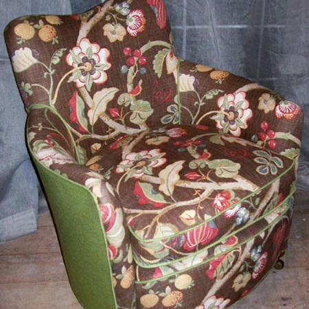 Reupholstered Small Chair