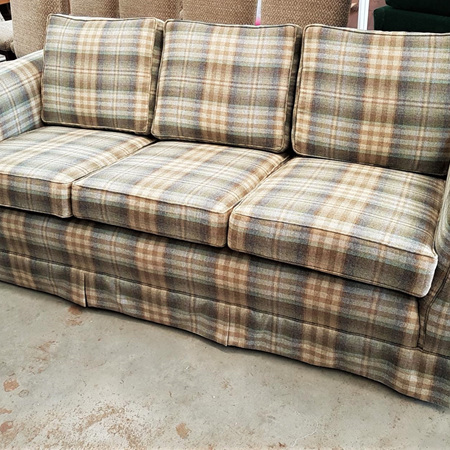 Reupholstered Three Seater with Scottish Influence