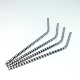 Reusable Metal Straws 4 pack