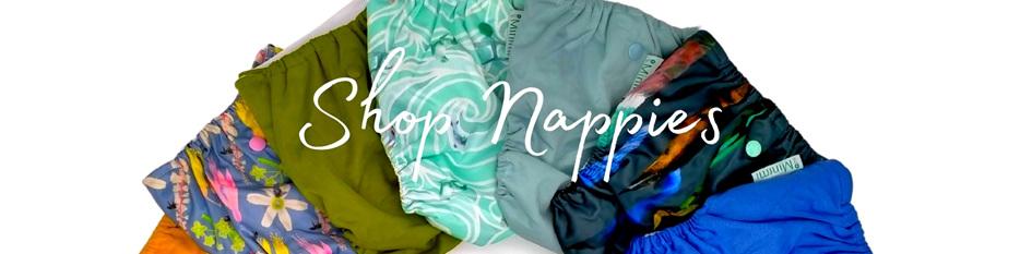Reusable Nappy NZ designed Larger Pocket Cloth nappy bamboo hemp