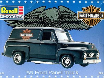 Revell 1/24 Harley Davidson 55 Ford Panel Truck
