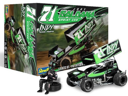 "Revell 1/24 Joey Saldana #71 ""Indy Race Parts"" Sprint Car with Driver"