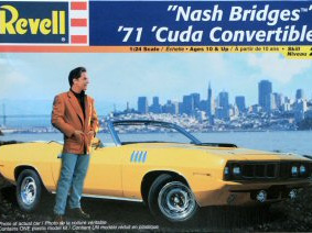 Revell 1/24 'Nash Bridges' 71 Cuda Convertible