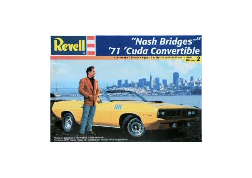 Revell 1/24 'Nash Bridges' 71 Cuda Convertible