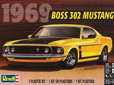 Revell 1/25 1969 Boss 302 Mustang