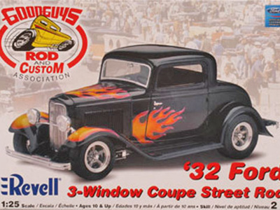 Revell 1/25 32 Ford 3 Window Coupe Street Rod
