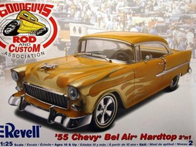 Revell 1/25 '55 Chevy Bel Air Hardtop 2n1