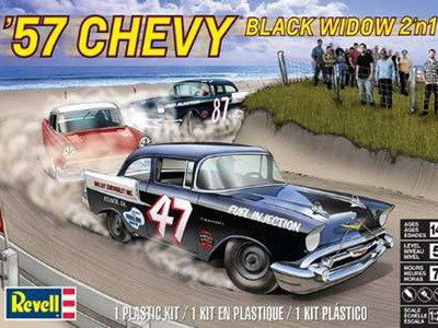 Revell 1/25 57 Chevy Black Widow 2n1