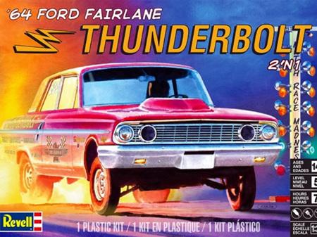 Revell 1/25 64 Ford Fairlane Thunderbolt 2 n 1