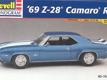 Revell 1/25 69 Camaro Z/28 RS