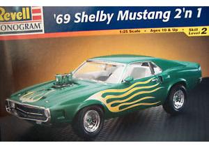 Revell 1/25 69 Shelby Mustang 2n1