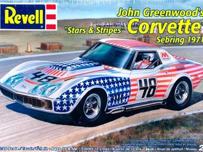 Revell 1/25 John Greenwoods Stars & Stripes Corvette Sebring 1971