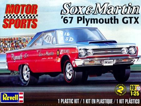 Revell 1/25 Sox & Martin '67 Plymouth GTX