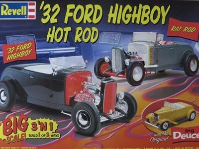 Revell 1/8 Big Scale 32 Ford Highboy Hot Rod 3n1