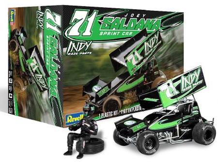 "Revell 1/24 Joey Saldana #71 ""Indy Race Parts"" Sprint Car with Driver (RMX4444)"