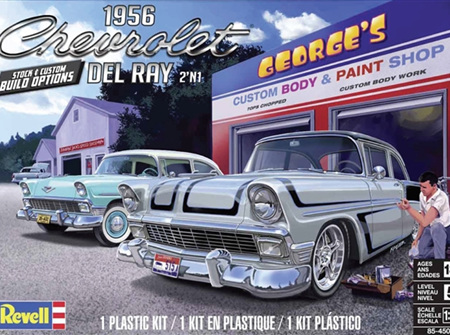 Revell 1/25 1956 Chevrolet Del Ray (2 'n 1) Stock or Custom (RMX4504)