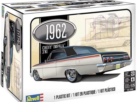 Revell 1/25 1962 Chevy Impala Hardtop (3 'n 1) (RMX4466)