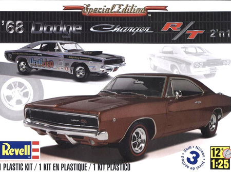 Revell 1/25 1968 Dodge Charger (2 'n 1) (RMX4202)