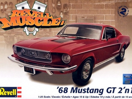Revell 1/25 1968 Ford Mustang GT (2 'n 1)