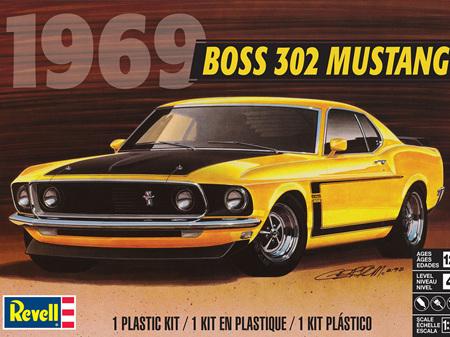 Revell 1/25 1969 Boss 302 Mustang (RMX4313)