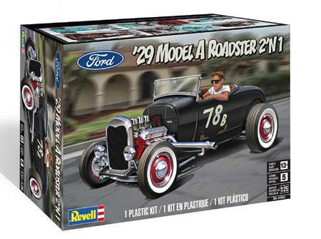 Revell 1/25 '29 Ford Model A Roadster 2 'n 1 (RMX4497)