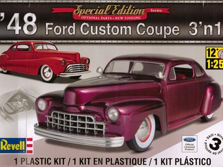 Revell 1/25 48 Ford Custom Coupe 3n1