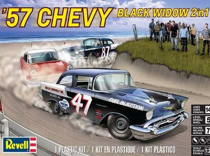 Revell 1/25 57 Chevy Black Widow 2n1