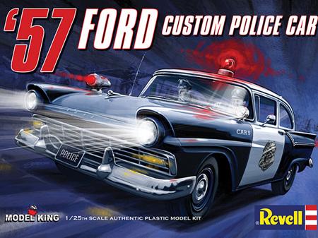 Revell 1/25 57 Ford Custom Police Car