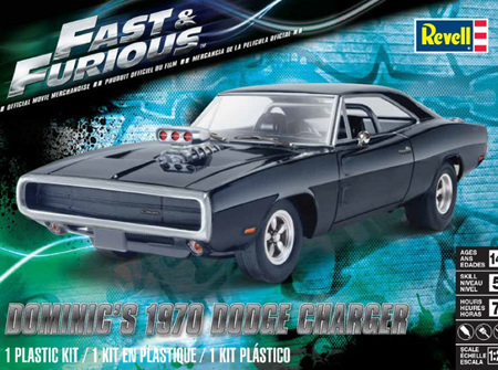 Revell 1/25 Fast & Furious 1970 Dodge Charger (RMX4319)